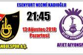 Afjet Afyonspor'un Spor Toto 1.Lig'de ilk maçı !!!