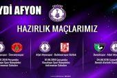 Afjet Afyonspor, Ümraniyespor ile Hazırlık Karşılaşmasına çıkıyor