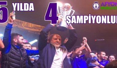 Afjet Afyonspor'un başarısı !!! 5 yılda 4 şampiyonluk !!!