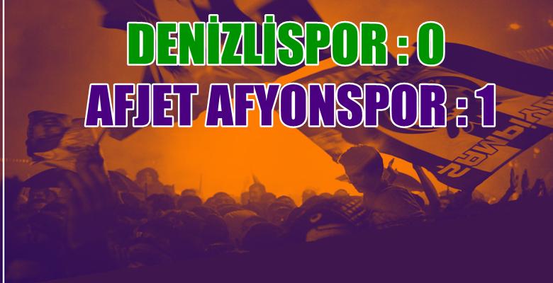 Denizlispor : 0 – 1 Afjet Afyonspor – Hazırlık Karşılaşması