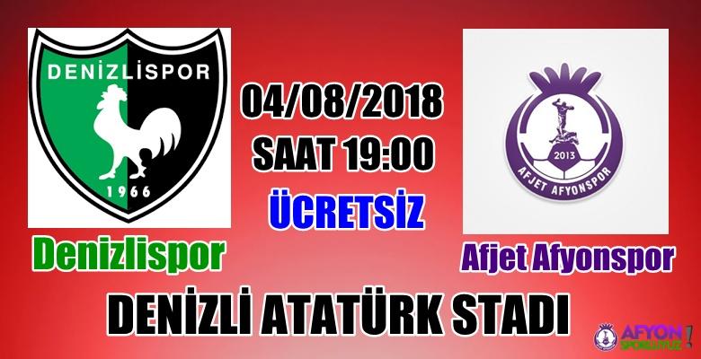 Denizlispor, sezonu Afjet Afyonspor ile açıyor !!!