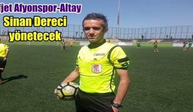 Afjet Afyonspor-Altay maçı hakemi belli oldu !!!