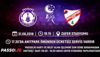 Afjet Afyonspor – Boluspor biletleri satışta !!!