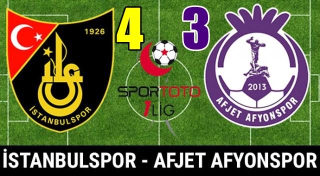Jetler geç açıldı !!! İstanbulspor : 4 – 3 Afjet Afyonspor
