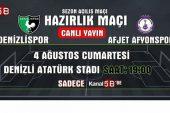Denizlispor – Afjet Afyonspor maçı Kanal 58 ekranlarında !!!