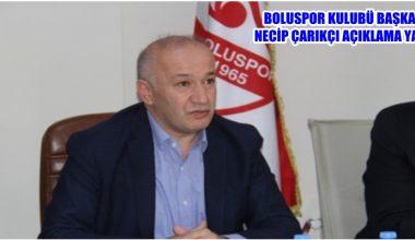 Boluspor Başkanı Necip Çarıkçı açıklamalarda bulundu !!!