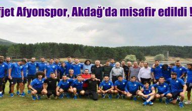 Afjet Afyonspor, Akdağ'da misafir edildi !!!