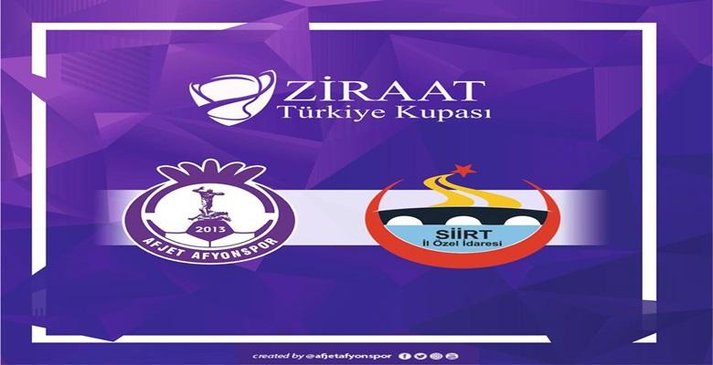 Afjet Afyonspor, Siirt İl Özel İdare'yi konuk edecek !!