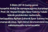 Afyon Belediyespor ilk maçını salonunda oynayamayacak !!