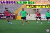 Afjet Afyonspor, Giresunspor hazırlıklarına başladı !!