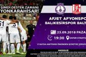 Afjet Afyonspor için şimdi destek zamanı !!!