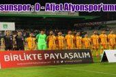 Giresunspor : 0 – Afjet Afyonspor : 1 ( Maç sonucu )