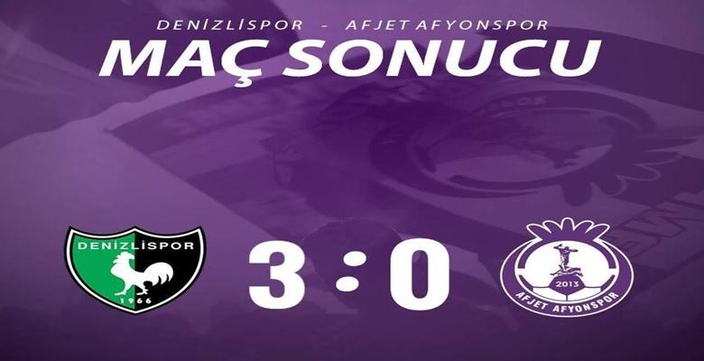 Denizlispor : 3 – Afjet Afyonspor : 0