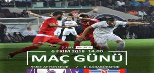 Afjet Afyonspor-Karabükspor !! Maç başlıyor..
