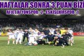 Afjet Afyonspor galibiyet hasretine son verdi !!