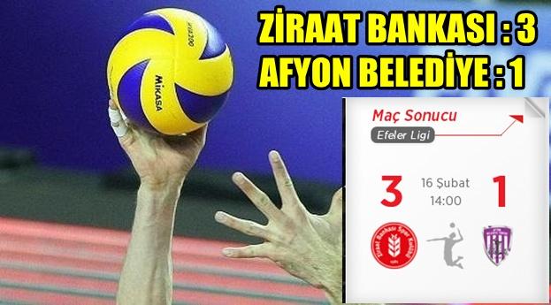 Ziraat Bankası, İkbal Afyon Belediye Yüntaş'ı 3-1 yendi
