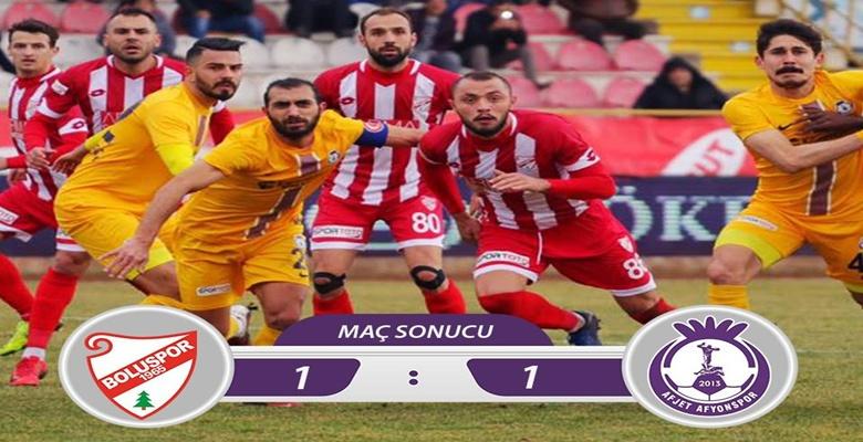 Boluspor : 1 – 1 Afjet Afyonspor