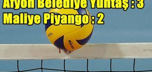 Afyon Belediye Yüntaş : 3 – 2 Maliye Piyango