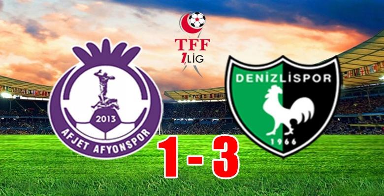 Afjet Afyonspor, Denizlispor'a mağlup oldu !!