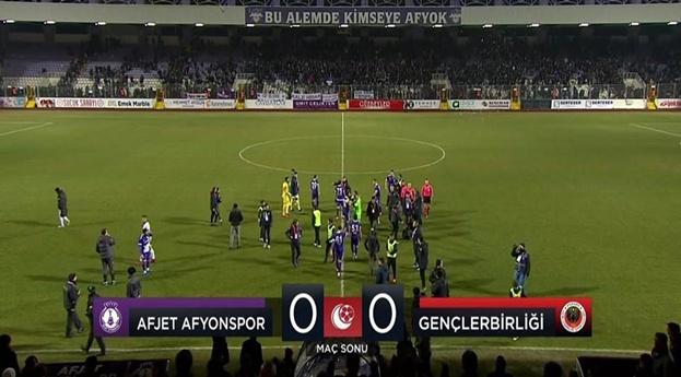 Afjet Afyonspor : 0 – 0 Gençlerbirliği