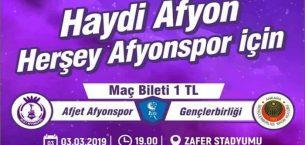 Afjet Afyonspor için Haydi Afyon !!