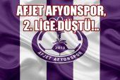 Afjet Afyonspor 2.Lig'e düştü !!
