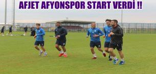 AFJET AFYONSPOR START VERDİ !!