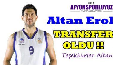 Altan Erol, Afyon Belediyespor'dan ayrıldı !!