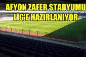 AFYON ZAFER STADYUMUNDA EKSİKLİKLER GİDERİLİYOR