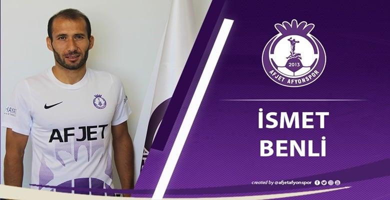 İsmet Benli, Afjet Afyonspor ile yeniden imzaladı !!