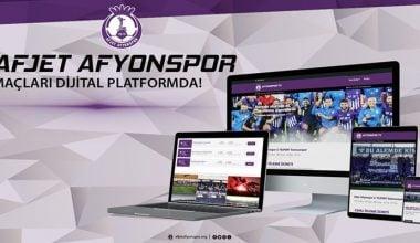Afyonspor taraftarlarına Müjde !! Afjet Afyonspor İç saha Maçları Canlı yayınlanacak !!