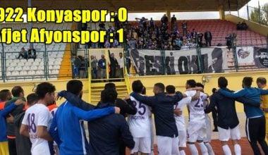 Afjet Afyonspor, 1922 Konyaspor'dan 3 puanı kaptı !!
