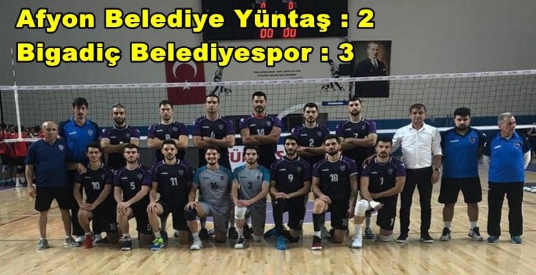 Afyon Belediye Yüntaş: 2 – Bigadiç Belediyespor : 3