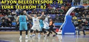 Afyon Basketbol takımımız, Telekom'u elinden kaçırdı !!