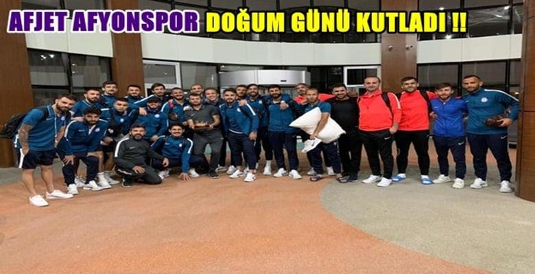 Afjet Afyonspor ekibinden Doğum günü sürprizi !!