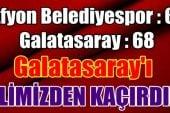 Meksa Yatırım Afyon Belediyespor : 67 – 68 Galatasaray