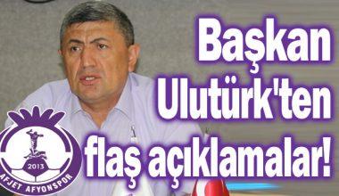 Başkan Yusuf Ulutürk, Aday çıkmazsa görevimizin başındayız !