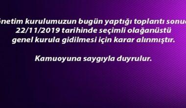 Afjet Afyonspor kulubü kongreye gitme kararı aldı