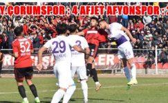 Afjet Afyonspor, Çorumspor karşısında kayıp 4-2