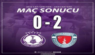 Afjet Afyonspor'umuz kendi evinde mağlup oldu !!