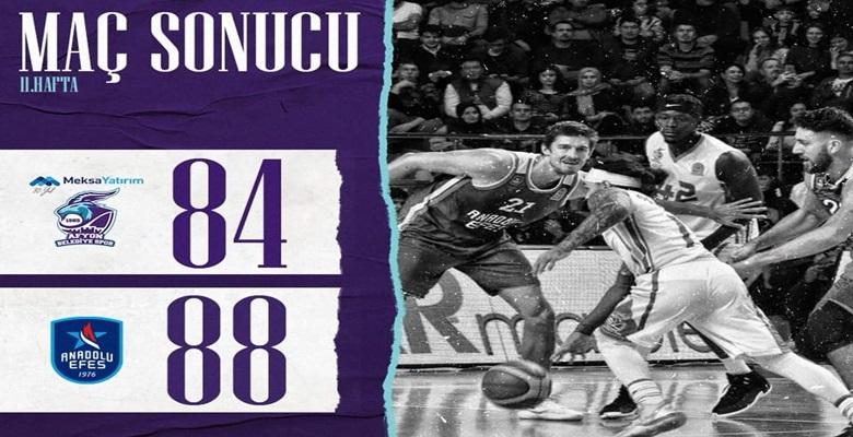 Mücadele için Teşekkürler !! Afyon Belediyesi 84 Anadolu Efes 88