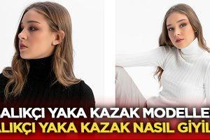 Balıkçı Yaka Kazak Modelleri